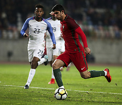 November 14, 2017 - Leiria, Portugal - Gonalo Guedes shoots the ball during the Friendly match  football match between Portugal and USA at Municipal de Leiria Stadium in Leiria on November 14, 2017. (Credit Image: © Carlos Costa/NurPhoto via ZUMA Press)