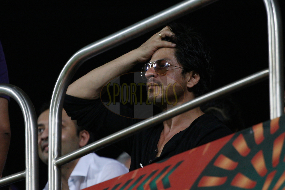 Shahrukh Khan during the final of the Indian Premier League ( IPL ) 2012  between The Kolkata Knight Riders and the Chennai Superkings held at the M. A. Chidambaram Stadium, Chennai on the 27th May 2012..Photo by Jacques Rossouw/IPL/SPORTZPICS