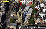 aerial photograph  St Nicholas Cathedral  Newcastle upon Tyne England UK