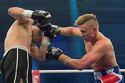 12.03.2016, Jahnsportforum, Neubrandenburg, GER, Boxgala, WBA Weltmeisterschaftskampf, im Bild v.l. Sebastian Formella (Germany) vs Frank Radnil (Croatia) // during the WBA Light Heavyweight World Championship Boxgala at the Jahnsportforum in Neubrandenburg, Germany on 2016/03/12. EXPA Pictures © 2016, PhotoCredit: EXPA/ Eibner-Pressefoto/ Koch<br /> <br /> *****ATTENTION - OUT of GER*****