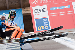 February 8, 2019 - Ljubno, Savinjska, Slovenia - Nika Kriznar of Slovenia on first competition day of the FIS Ski Jumping World Cup Ladies Ljubno on February 8, 2019 in Ljubno, Slovenia. (Credit Image: © Rok Rakun/Pacific Press via ZUMA Wire)