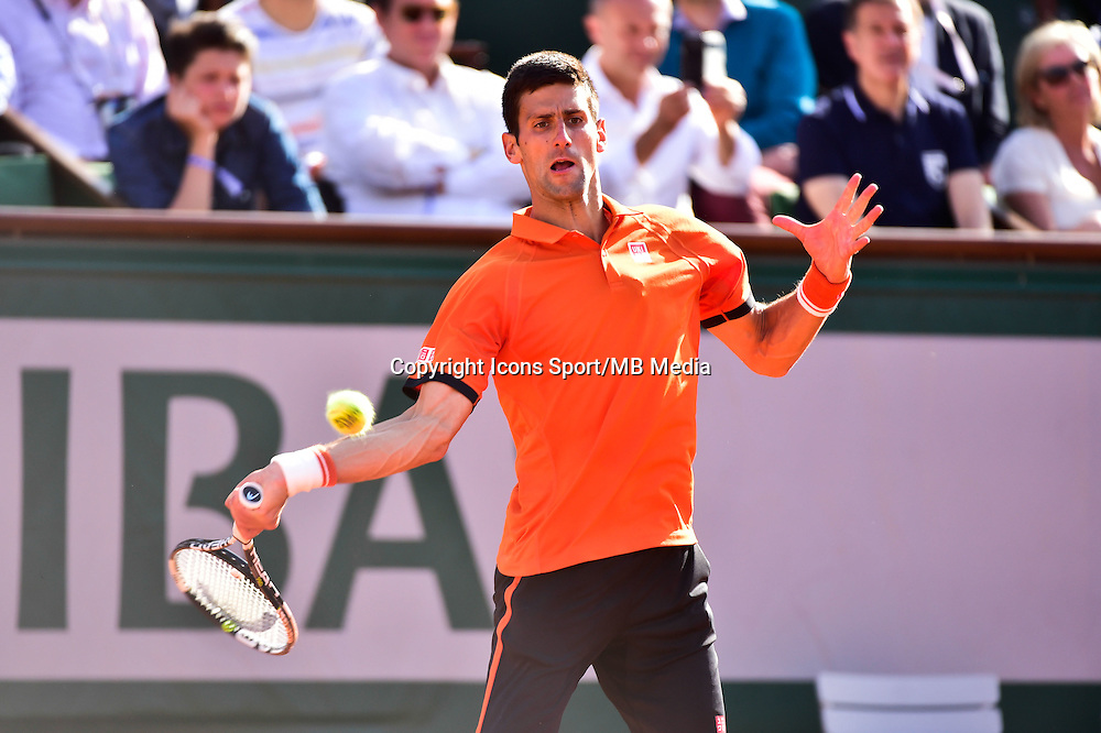 Novak DJOKOVIC - 03.06.2015 - Jour 11 - Roland Garros 2015 <br />Photo : Dave Winter / Icon Sport