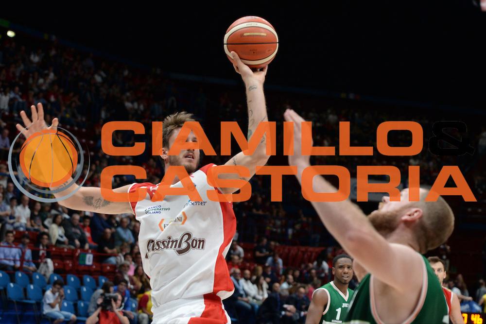 Achille Polonara<br /> Supercoppa Sidigas Scandone Avellino - Grissin Bon Reggio Emilia<br /> Basket serie A 2016/2017<br /> Milano 24/09/2016<br /> Foto Ciamillo-Castoria