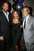 l to r: Don Coleman Marvette Britto and Rev. Al Sharpton at The Birthday Celebration for Kelli Coleman held at The Avenue on Decemeber 6, 2009 in New York City