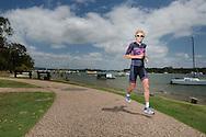 Melissa Hauschildt (AUS), October 31, 2014 - TRIATHLON : Noosa Triathlon Festival, River Marina, Noosa, Queensland, Australia. Credit: Lucas Wroe