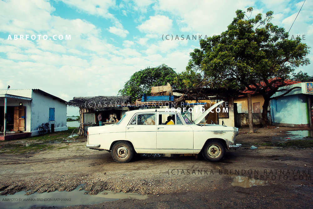 An old Austin broken down on route to Jaffna.