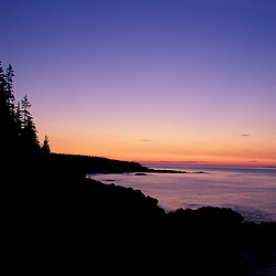 "Cutler, ME. The ""Bold Coast"" - Bay of Fundy.  View from the Coastal Trail at sunrise.  Maine Public Reserve Land."