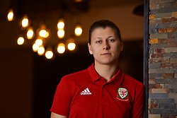 NEWPORT, WALES - Thursday, January 17, 2019: Wales' Emma Jones poses for a portrait during a media session at the Coldra Court Hotel ahead of the International Friendly game against Italy. (Pic by David Rawcliffe/Propaganda)