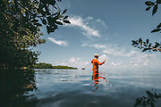 Fly Fising for Tarpon in the FL. Keys. <br /> Photography by Adam Alexander