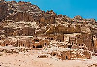 Street of Facades in Nabatean Petra Jordan middle east