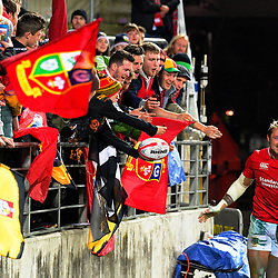 Jack Nowell thanks fans after the 2017 DHL Lions Series rugby union match between the NZ Maori and British & Irish Lions at FMG Stadium in Hamilton, New Zealand on Tuesday, 20 June 2017. Photo: Dave Lintott / lintottphoto.co.nz
