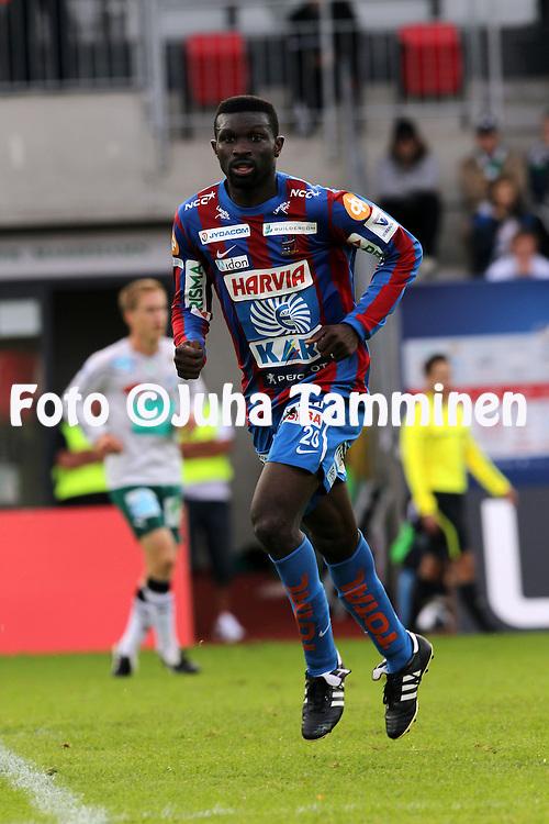 21.8.2011, Wikl?f Holding Arena, Mariehamn..Veikkausliiga 2011, IFK Mariehamn - JJK Jyv?skyl?..Babatunde Wusu - JJK..