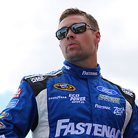 Race car driver Ricky Stenhouse Jr. is seen during driver introductions prior to the 58th Annual NASCAR Daytona 500 auto race at Daytona International Speedway on Sunday, February 21, 2016 in Daytona Beach, Florida.  (Alex Menendez via AP)