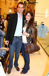 FRITZ VON WESTENHOLTZ and CAROLINE SIEBER at a party to celebrate the opening of the new H&M Flagship Store at 17-21 Brompton Road, London SW3 on 23rd March 2005.<br /><br />NON EXCLUSIVE - WORLD RIGHTS