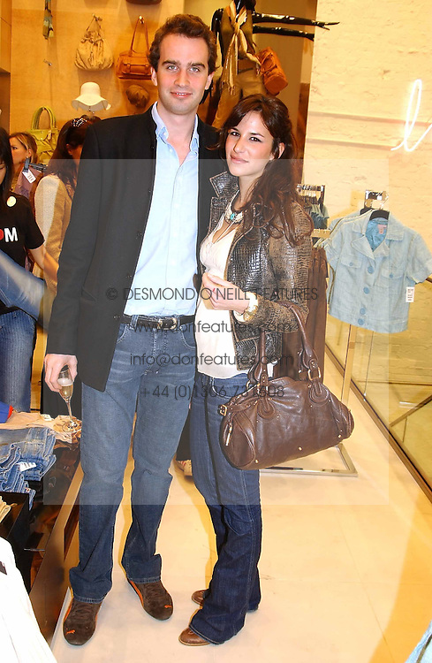 FRITZ VON WESTENHOLTZ and CAROLINE SIEBER at a party to celebrate the opening of the new H&amp;M Flagship Store at 17-21 Brompton Road, London SW3 on 23rd March 2005.<br />