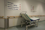 Corridor, Deutsches Rotes Kreuz (DRK - German Red Cross) Hospital, Berlin, Germany.