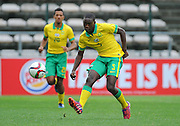 CAPE TOWN, SOUTH AFRICA - Sunday 27 September 2015: Athenkosi Dlala of South Africa during the U17 International friendly soccer match between South Africa v Chile at Athlete Stadium. (Photo by Roger Sedres/ImageSA)