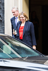 London, October 17 2017. Home Secretary Amber Rudd leaves the UK cabinet meeting at Downing Street. © Paul Davey