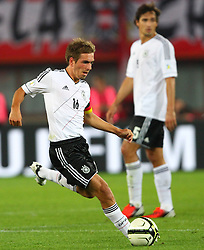 11.09.2012, Ernst Happel Stadion, Wien, AUT, FIFA WM Qualifikation, Oesterreich vs Deutschland, im Bild Philipp Lahm, (GER, #16)  // during the FIFA World Cup Qualifier Match between Austria (AUT) and Germany (GER) at the Ernst Happel Stadion, Vienna, Austria on 2012/09/11. EXPA Pictures © 2012, PhotoCredit: EXPA/ Thomas Haumer