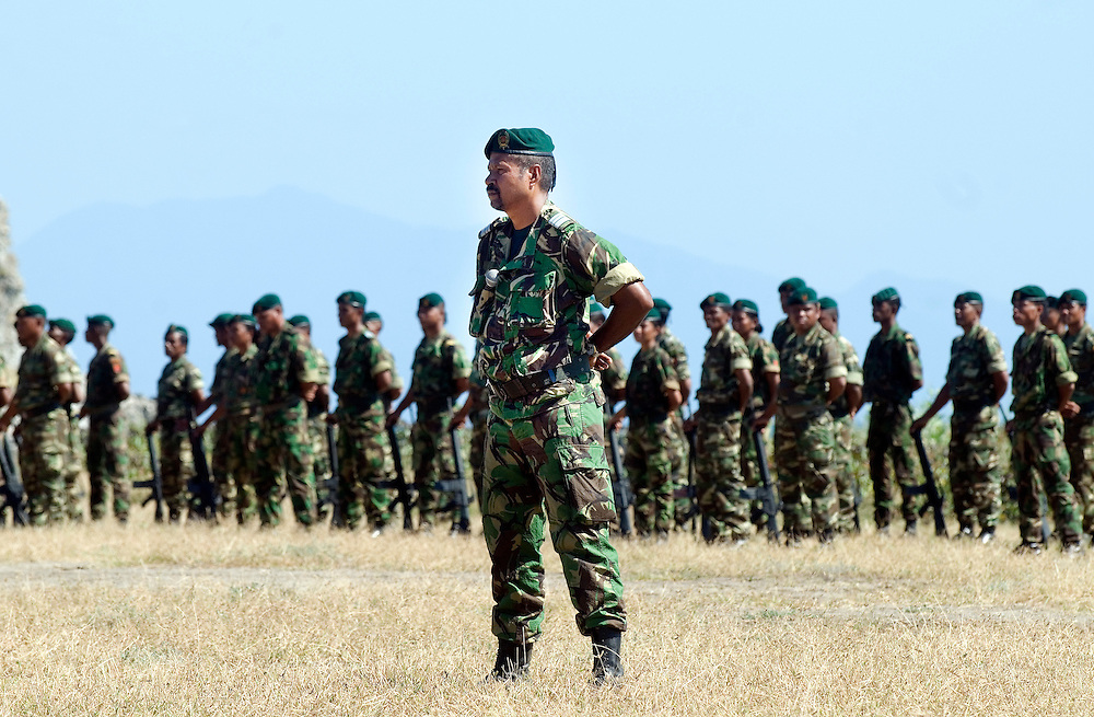 The F-FDTL, East Timorese Army, put on a parade put on for Xanana Gusmao by the East Timorese Army.