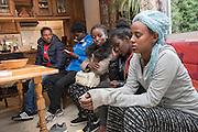 November 9, 2016, Breil-sur-Roya, Libre, French Alpes, France. Eritrean refugees who just arrived in the house of Sylvain, 67 years, a retired school teacher.<br /> <br /> 9 novembre 2016, Breil-sur-Roya, Libre, Alpes françaises, France. Des réfugiés érythréens viennent de trouvé refuge dans la maison de Sylvain, 67 ans, un enseignant à la retraite.
