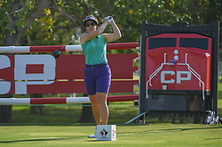 August 23, 2018 - Regina, SK, U.S. - REGINA, SK - AUGUST 23: Rebecca Artis (AUS) watches her tee shot on 18 during the CP Women's Open Round 1 at Wascana Country Club on August 23, 2018 in Regina, SK, Canada. (Photo by Ken Murray/Icon Sportswire) (Credit Image: © Ken Murray/Icon SMI via ZUMA Press)