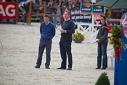 Gabriël Coumans and Piet Raymakers (NED)<br /> judges for the 4 year old horses<br /> KWPN Paardendagen 2011 - Ermelo 2011<br /> © Dirk Caremans