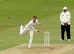 Durham's Chris MacLeod bowls - Photo mandatory by-line: Robbie Stephenson/JMP - Mobile: 07966 386802 - 03/05/2015 - SPORT - Football - London - Lords  - Middlesex CCC v Durham CCC - County Championship Division One