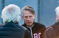 ALMERE - Amsterdam voorzitter Marc Staal,  de hoofdklasse hockeywedstrijd heren,  Almere- Amsterdam (1-3).    COPYRIGHT KOEN SUYK