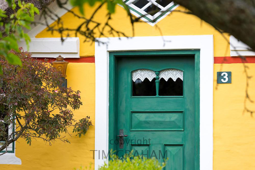 Traditional thatched cottage house on Fano Island - Fanoe - South Jutland, Denmark