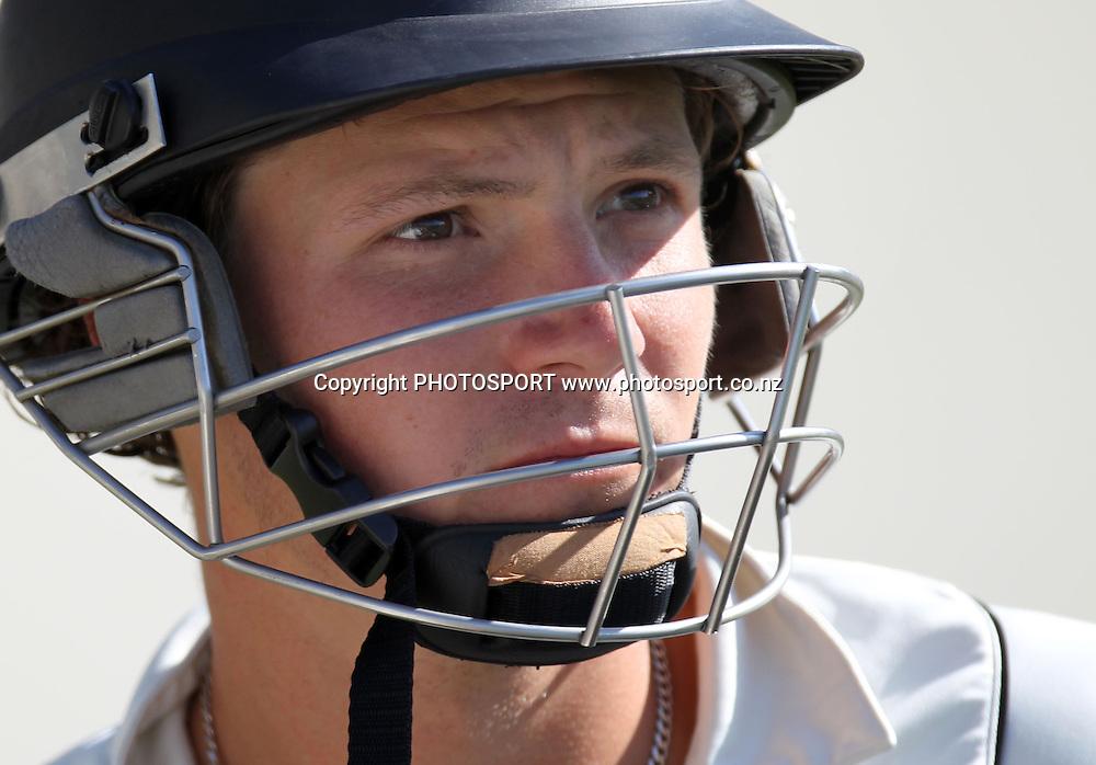 New Zealand batsman B J Watling.<br />Test Match Cricket. 2nd test. Day 2.<br />New Zealand Black Caps versus Australia. Seddon Park, Hamilton, New Zealand. Sunday 28 March 2010. <br />Photo: Andrew Cornaga/PHOTOSPORT