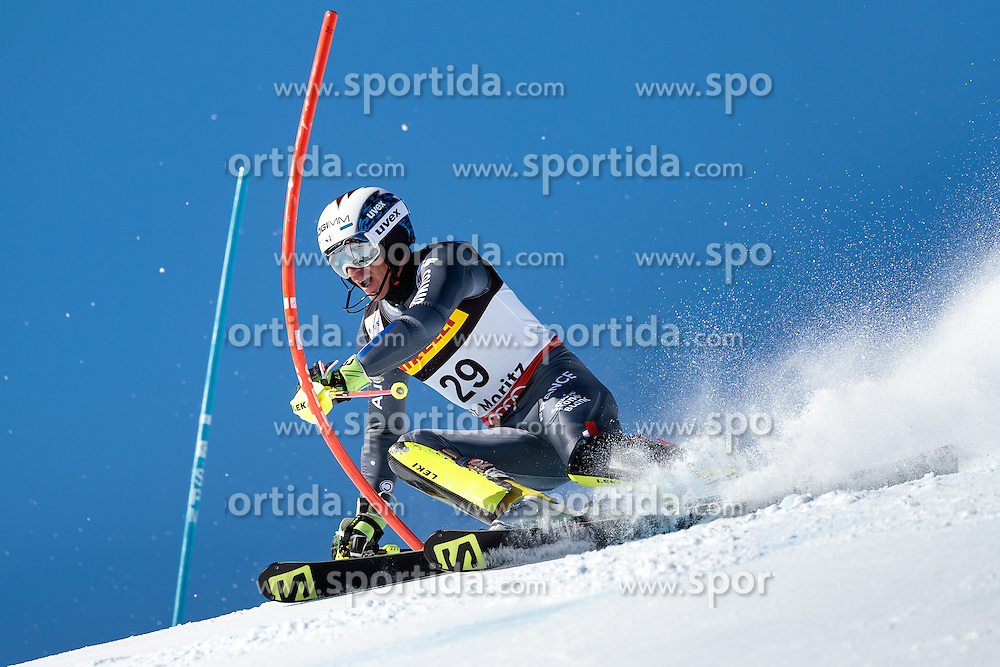 19.02.2017, St. Moritz, SUI, FIS Weltmeisterschaften Ski Alpin, St. Moritz 2017, Slalom, Herren, 1. Lauf, im Bild Robin Buffet (FRA) // Robin Buffet of France in action during his 1st run of men's Slalom of the FIS Ski World Championships 2017. St. Moritz, Switzerland on 2017/02/19. EXPA Pictures © 2017, PhotoCredit: EXPA/ Johann Groder