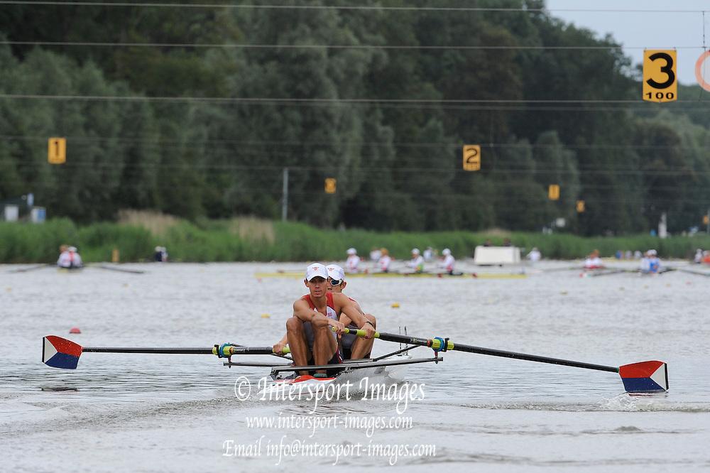 Amsterdam, NETHERLANDS, USA BLM2-, 2011 FISA U23 World Rowing Championships, Friday, 22/07/2011 [Mandatory credit:  Intersport Images]