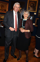 BRIAN IVORY and the COUNTESS OF AIRLIE at a reception hosted by Brian Ivory Chairman of the Trustees of The National Galleries of Scotland to commemorate Sir Timothy Clifford's 21 years of Director of the National Gallery of Scotland and his forthcoming retirement in January 2006, held at Christie's, King Street, London W1 on 6th December 2005.<br />