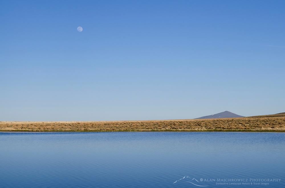 Moonrise over Paiute Lake, Hart Mountain National Antelope Refuge Oregon