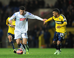 Tranmere Rovers' Shamir Fenelon on the attack against Oxford United in FA Cup second round tie at the Kassam Stadium - Photo mandatory by-line: Paul Knight/JMP - Mobile: 07966 386802 - 06/12/2014 - SPORT - Football - Oxford - Kassam Stadium - Oxford United v Tranmere Rovers - FA Cup Second Round