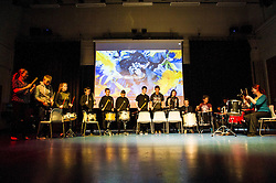 Pictured: School students released thir frustrations as part of a samba band.<br /> <br /> Craigroyston Community High School put on an Expressive Arts Showcase - Try Everything to encourgage students to get involved with the arts. <br /> <br /> <br /> Ger Harley | EEm 7 June 2016
