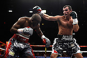 Joe Calzaghe beats Bernard Hopkins by split decision to claim The Ring Light Heavyweight Title. Las Vegas, Nevada, 19th April 2008.