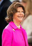 23-8-2014 - MAINUA  - Queen Silvia of Sweden visit the island of Mainau, to celebrate the 15th anniversary of the Children's Aid Foundation World Childhood Foundation as part of the closing ceremonies of the 5th Lindau Meeting in Economic Sciences as well as the subsequent exclusive anniversary celebration at Castle Mainau. <br /> COPYRIGHT ROBIN UTRECHT