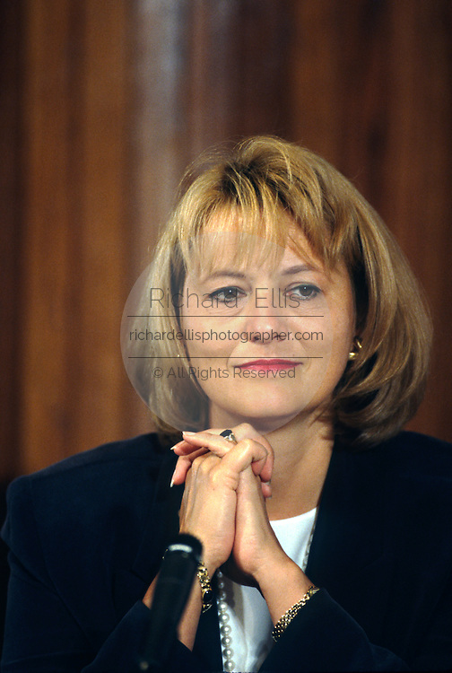 Carol Bartz, CEO of Yahoo during a technology event at the National Press Club June 4, 1997 in Washington, DC.