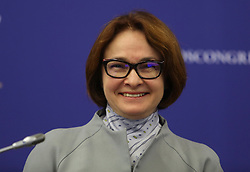 June 1, 2017 - Saint Petersburg, Russia - June 1, 2017. - Russia, Saint Petersburg. - St. Petersburg International Economic Forum (SPIEF) 2017. Panel Session 'Macroeconomic Policy: From Stabilization To Growth'. In picture: Elvira Nabiullina, Governor, Central Bank of the Russian Federation. (Credit Image: © Russian Look via ZUMA Wire)