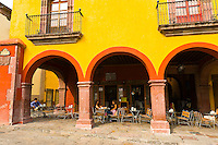 Archway along the main square,  San Miguel de Allende, Mexico