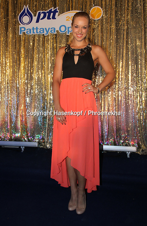 Pattaya Open 2014,WTA Tour, Damen<br /> Tennis Turnier in Pattaya,Thailand<br /> Players Party, Sabine Lisicki (GER) in einem Abendkleid,