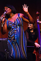 The 12th annual Hyde Park Jazz Festival was held this weekend, Saturday, September 29th and Sunday, September 30th, 2018 at various venues around Hyde Park. Jazz musicians from all around came out to play at the two-day event. <br /> <br /> 3181, 3206, 3213, 3216, 3220, 3229, 3230 - Joan Collaso and the Larry Hicks Ensemble performed Saturday evening at the Reva and David Logan Center located at 915 E. 60th St.<br /> <br /> Please 'Like' &quot;Spencer Bibbs Photography&quot; on Facebook.<br /> <br /> Please leave a review for Spencer Bibbs Photography on Yelp.<br /> <br /> Please check me out on Twitter under Spencer Bibbs Photography.<br /> <br /> All rights to this photo are owned by Spencer Bibbs of Spencer Bibbs Photography and may only be used in any way shape or form, whole or in part with written permission by the owner of the photo, Spencer Bibbs.<br /> <br /> For all of your photography needs, please contact Spencer Bibbs at 773-895-4744. I can also be reached in the following ways:<br /> <br /> Website &ndash; www.spbdigitalconcepts.photoshelter.com<br /> <br /> Text - Text &ldquo;Spencer Bibbs&rdquo; to 72727<br /> <br /> Email &ndash; spencerbibbsphotography@yahoo.com<br /> <br /> #SpencerBibbsPhotography #HydePark #Community #Neighborhood<br /> #Music<br /> #HydeParkJazzFestival<br /> #Jazz<br /> #LiveMusic<br /> #JoanCollaso