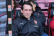 Arsenal manager Unai Emery during the Premier League match between Bournemouth and Arsenal at the Vitality Stadium, Bournemouth, England on 25 November 2018.