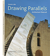 """Book cover of """"Drawing Parallels: Architecture Observed"""" by Quintin Lake"""