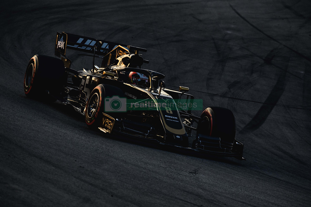 February 28, 2019 - Barcelona, Catalonia, Spain - ROMAIN GROSJEAN (FRA) from team Haas drives in his VF-19 during day seven of the Formula One winter testing at Circuit de Catalunya (Credit Image: © Matthias OesterleZUMA Wire)