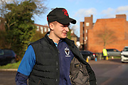 AFC Wimbledon attacker Marcus Forss (15) arriving for the game during the EFL Sky Bet League 1 match between AFC Wimbledon and Doncaster Rovers at the Cherry Red Records Stadium, Kingston, England on 14 December 2019.
