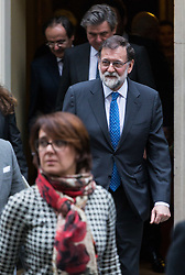 London, December 05 2017. Spanish Prime Minister Mariano Rajoy leaves 10 Downing Street following bilateral talks with British Prime Minister Theresa May. © Paul Davey