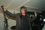 "HOWARD MARKS, Presented by Nick Reynolds, Punkvert and Treatment Rooms, An exhibition called '402' Art inspired by and in memory of ""Ash"". John Joe ""Ash' Amador, a 30 year old Hispanic American, was executed 29/08/2007 in Huntsville, Texas The Vibe Bar Gallery 91-95 Brick Lane London E1 6QL. 1 May 2008.  *** Local Caption *** -DO NOT ARCHIVE-© Copyright Photograph by Dafydd Jones. 248 Clapham Rd. London SW9 0PZ. Tel 0207 820 0771. www.dafjones.com."